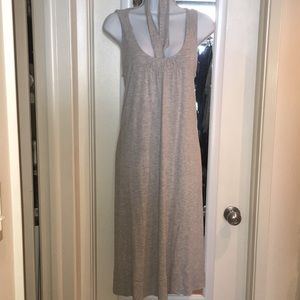 J.Crew rayón light grey dress. SzM
